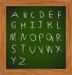 Chalk hand drawing alphabet design vector