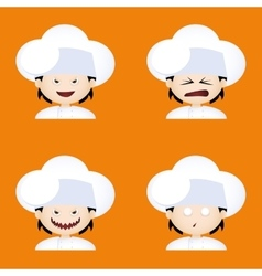Chef expressions faces vector