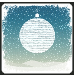 christmas ball vintage copyspace design vector image