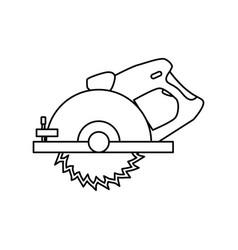 Circular saw carpentry tool vector