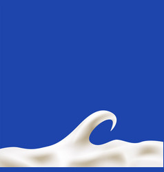 Cream yogurt or milk wave linear background vector
