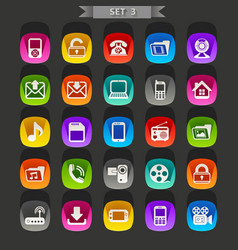 flat icons-set 3 vector image