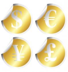 golden stickers vector image vector image