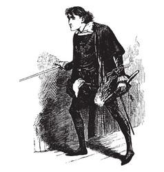 Hamlet vintage vector