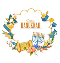 Happy Hanukkah Jewish holiday background vector image vector image