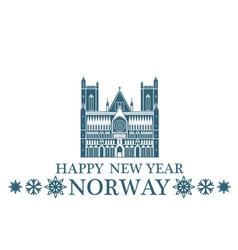 Happy new year norway vector