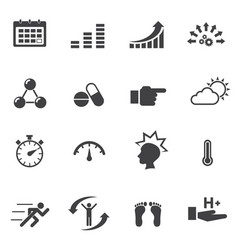 healthy icon set vector image vector image