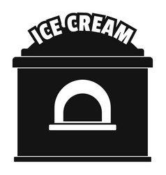 Ice creme trade icon simple style vector