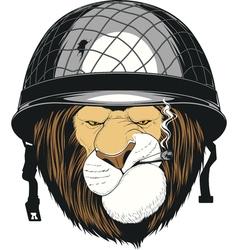 Leo soldier helmet vector