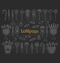 lollipop set hand drawn doodle vector image vector image