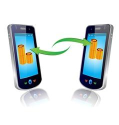 mobile money vector image