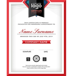 Modern certificate abstract graphic frame template vector