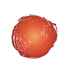 red grunge circle vector image vector image