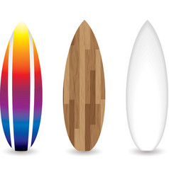 retro surfboards vector image