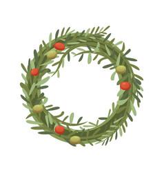 Rosemary wreath in cartoon vector