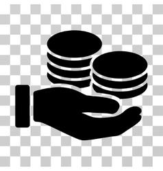 Salary hand icon vector