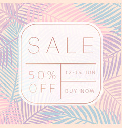 Sale banner tropical style vector