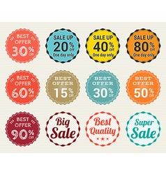 Sales promotion set in retro vector