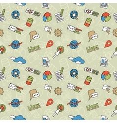 Seo doodle pattern vector