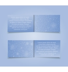 Set horizontal blue banners new year christmas vector