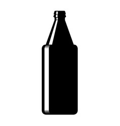 Silhouette of a glass beer bottle vector