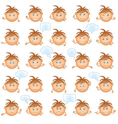 smilies set vector image vector image