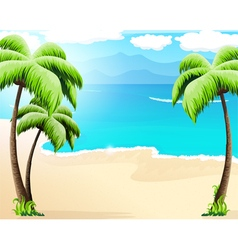 Tropical coast vector