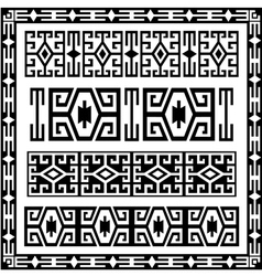 Traditional geometric design elements version vector