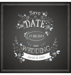 Save the date wedding card vector