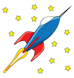 Rocket toy vector