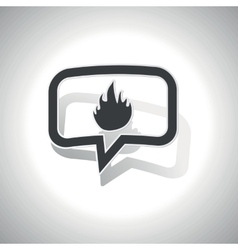 Curved fire message icon vector