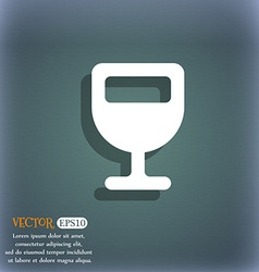 Wine glass alcohol drink icon symbol on the vector