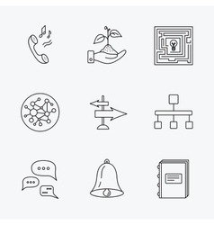 Conversation global network and direction icon vector