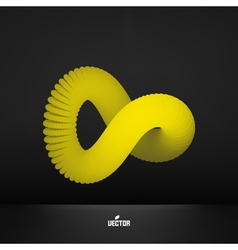 Infinity symbol abstract 3d design element vector