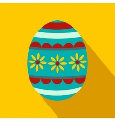 Colorful easter egg flat icon vector