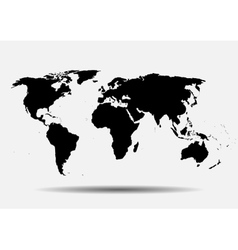 Black map world map blank world map vector