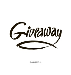 Giveaway banner for social media contests and vector