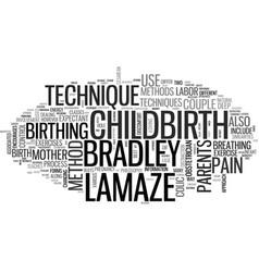 A primer on bradley vs lamaze childbirth methods vector