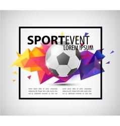 Abstract soccer football poster flyer card vector
