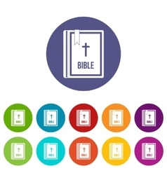 Bible set icons vector image vector image