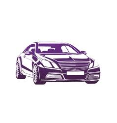 Big boss purple vector image