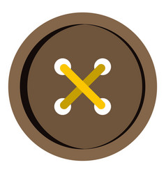 Brown clothing button icon isolated vector
