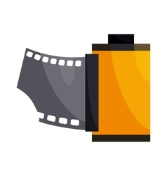 Camera film roll icon cartoon style vector