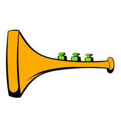 Children plastic trumpet icon icon cartoon vector