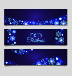 Christmas snowflakes banners vector