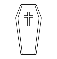 Coffin icon outline style vector