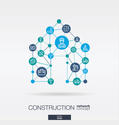 construction integrated thin line web icons in vector image vector image
