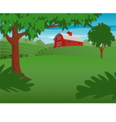 country scene vector image