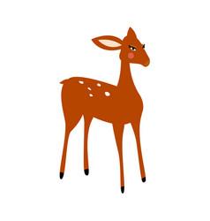 Deer cartoon isolated vector