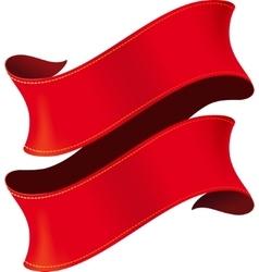 Elegant red ribbon vector